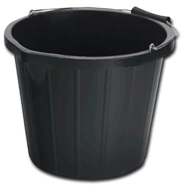 Black Builders Bucket 1.5L (BUC06) Image