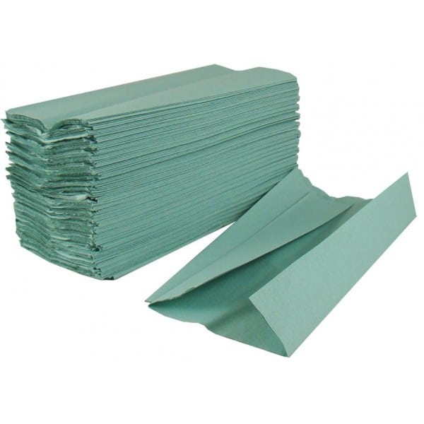 C/Fold Hand Towels Green (1ply) Image