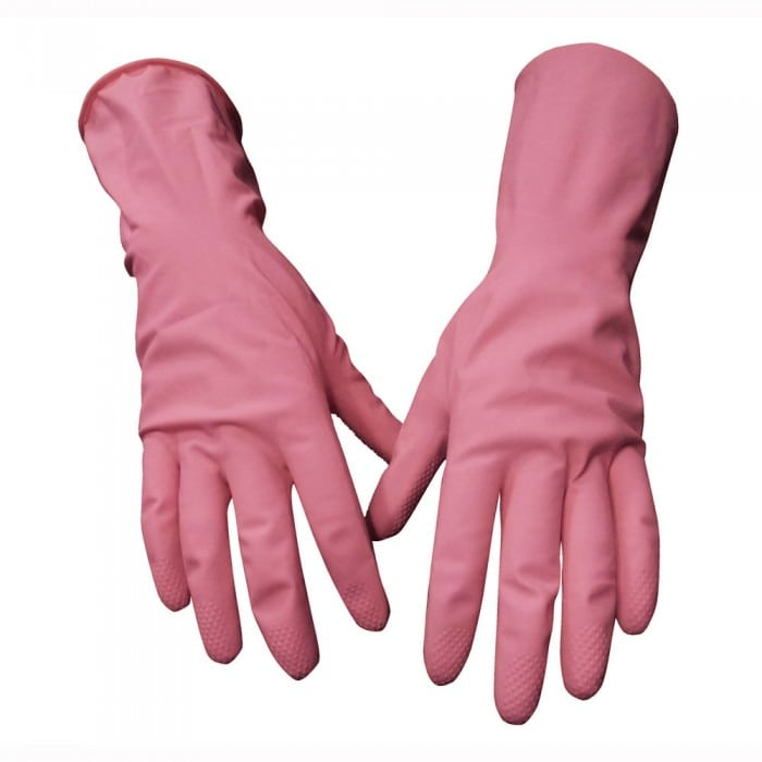 Rubber Pink House Gloves Image
