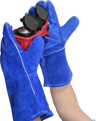 WGB Premium Blue Welders Gloves (GL007) Image
