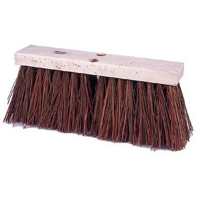 Square Wooden Broom Stiff 33cm Image