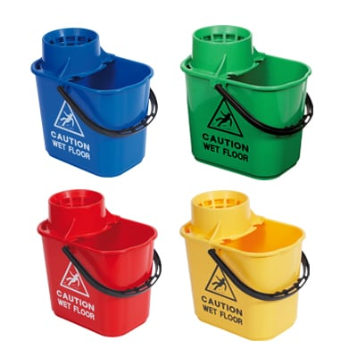 15 Litre Professional Mop Bucket with High Profile Wringer (MOP04) Image